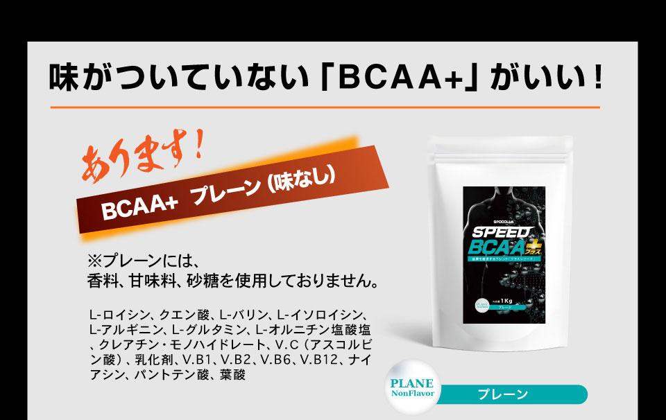 味のついていないBCAAプラス プレーン味 香料・甘味料・砂糖不使用